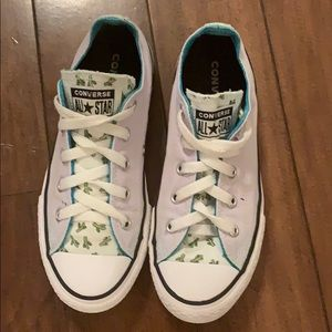 Kids Converse all stars with cactus lilac sneaker